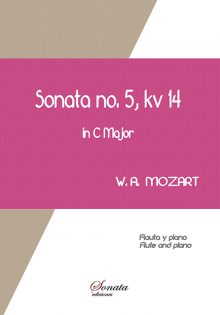 W.A. MOZART: Sonata No.5, kv 14 - Flute and piano